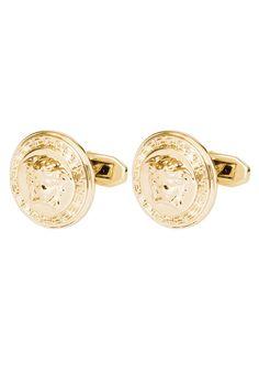 Versace Spinka do mankietów goldcoloured 739.00zł #moda #fashion #men #mężczyzna #versace #spinka #do #mankietów #gold #męska #złoto #złota
