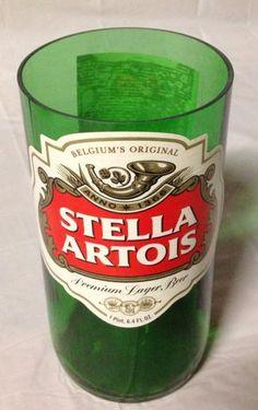 Stella Artois Beer Bottle Glass or Vase. Recycled Glass Bottle. by RandomCraftsBySundee, $12.00 USD
