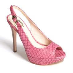 Love these shoes!  I've been in a pink and orange mood lately