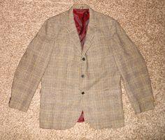 English Sports Shop vintage plaid three button jacket sz 42 reg #EnglishSportsShop #ThreeButton