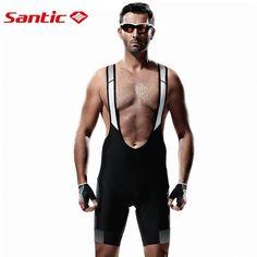 48.99$  Watch now - http://ali6t4.worldwells.pw/go.php?t=32779564897 - Santic Pro Cycling Bib Shorts Man's Triathlon Tights Bicycle Pants Bike Padded Bib Short Biker Shorts with Gel Pad for Men Black 48.99$