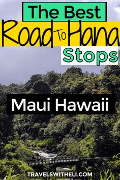 The Ultimate Guide to Maui's Road to Hana Stops. The best banana bread, waterfalls, black sand beaches, and how to drive the Road to Hana with kids. Hawaii Vacation Tips, Hawaii Travel, Travel Usa, Beach Vacations, Hiking With Kids, Travel With Kids, Family Travel, Canada Destinations, Family Vacation Destinations