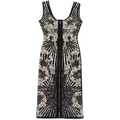 Pre-owned Herve Leger Mid-Length Dress ($1,605) ❤ liked on Polyvore featuring dresses, other, women clothing dresses, pre owned dresses, herve leger dress, hervé léger, preowned dresses and mid length dresses