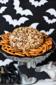 Snickers Cheese Ball Recipe - for a halloween party