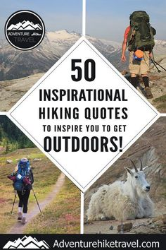 If you love hiking and exploring the outdoors but need some extra inspiration to set aside the never-ending to-do list, we have put together 50 Inspirational Hiking Quotes to Inspire You To Get Outdoors. #hiking #quotes #adventurequotes #inspirationalquotes #hike #hikingquotes Hiking Quotes, Travel Quotes, Adventure Quotes, Adventure Travel, Franklin Falls, Winter Hiking, Get Outdoors, Round Trip, Wonders Of The World