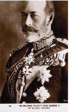 Postcard entitled : His Beloved Majesty King George V of Blessed Memory