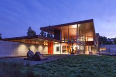 Swatt Miers Architects have completed a home in Portola Valley, California, that was designed for an avid art collector