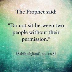 It's the polite thing to do! Prophet Muhammad Quotes, Imam Ali Quotes, Hadith Quotes, Muslim Quotes, Religious Quotes, Hadith Islam, Alhamdulillah, Islam Muslim, Muslim Women