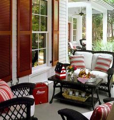 Durable composite decking in 3-inch tongue-and-groove planks gives this porch an old-fashioned feel. But this modern material won't rot, warp, or crack.