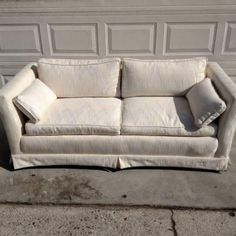 White Upholstered Loveseat Couch And Loveseat, Sofa, Vintage Furniture, Home Furniture, Mid-century Modern, San Diego, Love Seat, Family Room, Upholstery
