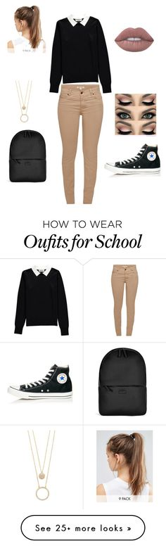 """School outfits"" by mendoza-rosalinda on Polyvore featuring Essentiel, Barbour, Converse, Rains, NIKE and Kate Spade"