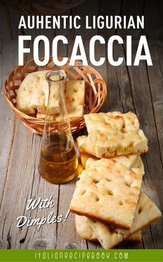 This Ligurian Focaccia is the most delicious (and the most authentic) Italian focaccia bread! Italian Focaccia Recipe, Italian Recipe Book, Italian Bread Recipes, Rustic Bread, Savory Pastry, Cheese Pies, Pizza Bites, Ciabatta, Snacks