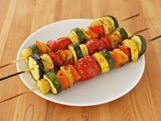 Lemon Pesto Vegetable Skewers