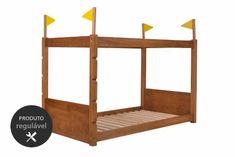 A Cama Infantil Era Uma Vez vai ser o sonho de consumo do seu filho durante toda a sua infância! Essa cama de madeira possui um estrado para ser fixado próxima ao chão!