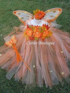 4pc Fall Fairy Princess Costume Size 2T, 3T, 4T, 5, 6... Perfect for Halloween, Portraits, Dress up, Party, Thanksgiving.... $79.00, via Etsy.