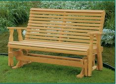 The Amish Pine Wood Roll Back Glider from DutchCrafters Amish Furniture is made from lovely pine wood to enhance the beauty of outdoor spaces like a garden, patio, porch, or around a fire pit while melting into relaxation thanks to its gliding motion. #glider #outdoor  #forporch #wooden