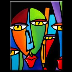 Peinture moderne pop Art contemporain Portrait visage par