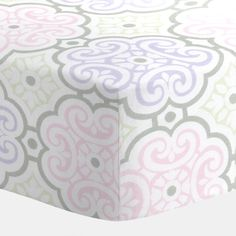 Lilac and Pink Nyle Crib Sheet #carouseldesigns