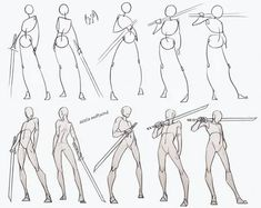 Anatomy Sketches, Anime Drawings Sketches, Anatomy Drawing, Anime Sketch, Sword Drawing, Figure Drawing, Drawing Tutorials, Drawing Techniques, Painting Tutorials