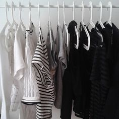That dream closet can't come any sooner. Love the idea to use white hangers instead of the traditional black slims.