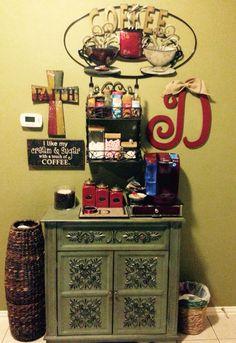 My version of a coffee bar! Love it!!