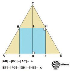 Oblicz pole kwadratu wpisanego w trójkąt równoboczny o boku długości a.