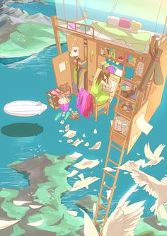 Fantasy Bed II by Caring201.deviantart.com on @deviantART