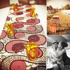 idée chemin de table tissu + photophores