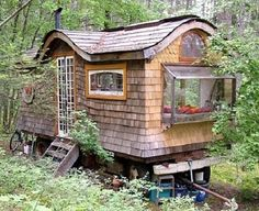 Want to build a gypsy cabin in the woods? A how-to here: http://su.pr/1Nleyd