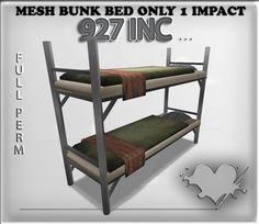 mesh bunk bed full perm 1 impact