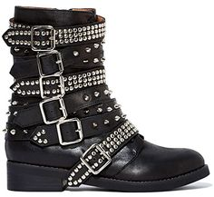 "Jeffrey Campbell ""Cruzados"" Biker Boots in black, $288 (Saint Laurent Rangers look-a-likes)"