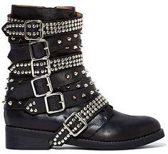 "Jeffrey Campbell ""Cruzados"" Biker Boots in black, $288 (Saint Laurent Rangers look-a-likes)"