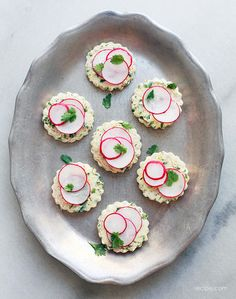 Radish Herb Sandwiches