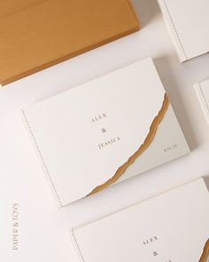Foil Stamped Abstract Wedding Invite copyright by Stationery Design, Brochure Design, Branding Design, Typography Invitation, Invitation Card Design, Wedding Stationery Inspiration, Packaging Design Inspiration, Santa Lucia, Neutral Wedding Decor