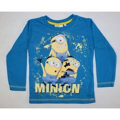 a0dcff3ee0 Minion hosszú ujjú póló kék színben. Mesefigurás gyerekruhák hatalmas  választékban. Gyors szállítás.
