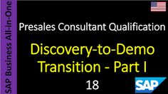 SAP - Course Free Online: 18 - Discovery-to-Demo Transition - Part I