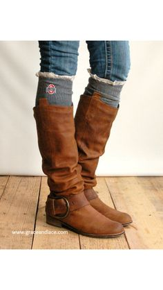 Boot socks ohio state