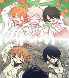 Emma, Norman, Ray, and Yugo Manga Anime, Otaku Anime, Anime Art, Rock Lee, Film D'animation, Anime Kawaii, Awesome Anime, Animes Wallpapers, Neverland