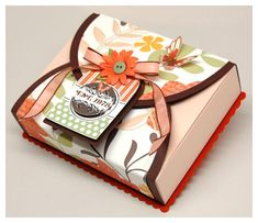 a variety of gift boxing ideas -- this one good for mailing -- the wrap can also be the greeting card