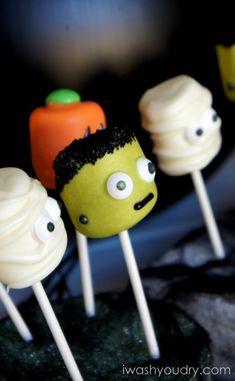 Frankenstein Halloween Marshmallow Pops
