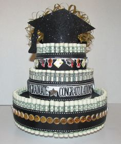 Graduation Money Cake by MoniDIYShop on Etsy