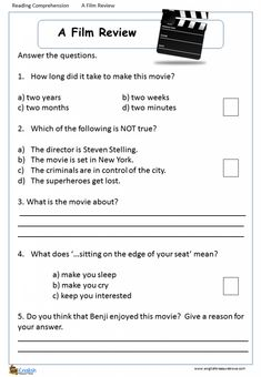 Comprehension – Page 4 – English Treasure Trove Animal Riddles, Grade 1 Reading, Halloween Poems, English Test, Reading Comprehension Worksheets, School Calendar, English Reading, Content Page, Film Review