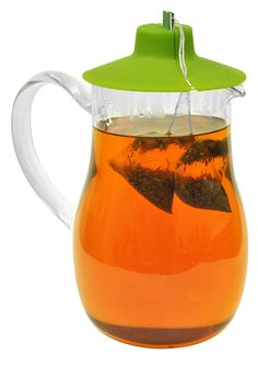 1 Liter Iced Tea Pitcher With Tea Bag Buddies 1L Iced Tea Pitcher with Tea Bag Buddy; Perfect for brewing bagged tea to make fresh iced tea # # #