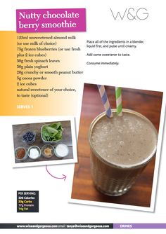 Nutty Chocolate Berry Smoothie