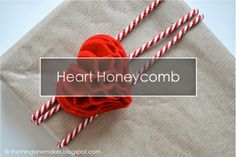 The Things She Makes: Heart Honeycomb