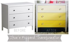 Ikea Ombre Dresser Transformation via Cape27