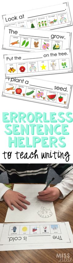 Using errorless teaching for writing instruction. I love this because students are practicing over and over with no mistakes. That means that they are building confidence in their writing skills, they are developing positive experiences with writing, and 1st Grade Writing, Kindergarten Writing, Teaching Writing, Writing Skills, Inclusion Classroom, Special Education Classroom, Art Therapy Activities, Writing Activities, Writing Ideas