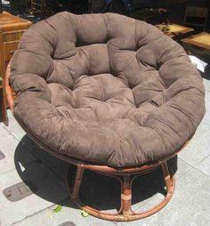 More Comfortable Rattan Papasan Chair Design — Michael's Homes Double Papasan Chair, Papasan Cushion, Rocking Chair Cushions, Cheap Folding Chairs, Fold Up Chairs, Cheap Home Furniture, Comfortable Accent Chairs, Overstuffed Chairs, Luxury Cushions