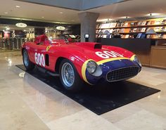 Look what's making an early appearance in #NYC ! The 1956 Ferrari 290 MM star of our Driven by Disruption sale is now on display in the lobby of @sothebys Manhattan headquarters!  If you're out and about in the city stop by and spend some time with this amazing car!  More info on the Ferrari and all lots in the New York sale is now available in the complete digital catalogue at link in bio.  #rmnewyork #drivenbydisruption #Ferrari #ferrari290mm #classiccars #vintageracing by rmsothebys