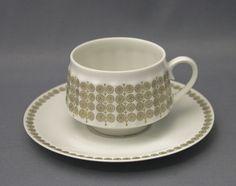 vintage Arabia, Pallas by Raija Uosikkinen Kitchenware, Tableware, Marimekko, Teacups, Scandinavian Design, Finland, Cup And Saucer, Coffee Cups, Pots